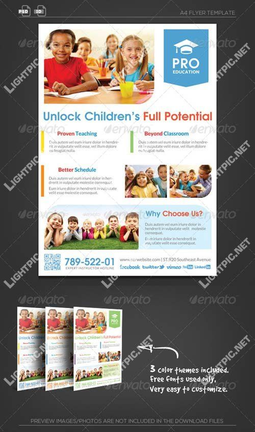 Graphicriver Pro Education Flyer Template  Unlock Potential