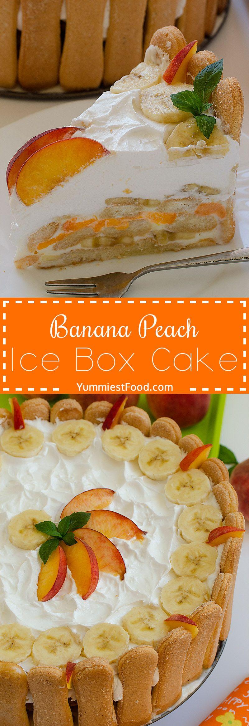 banana peach ice box cake recipe icebox cake peach banana box cake pinterest