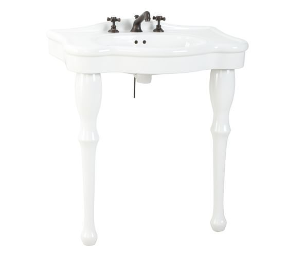 Parisian Pedestal Single Sink Console Pottery Barn Console