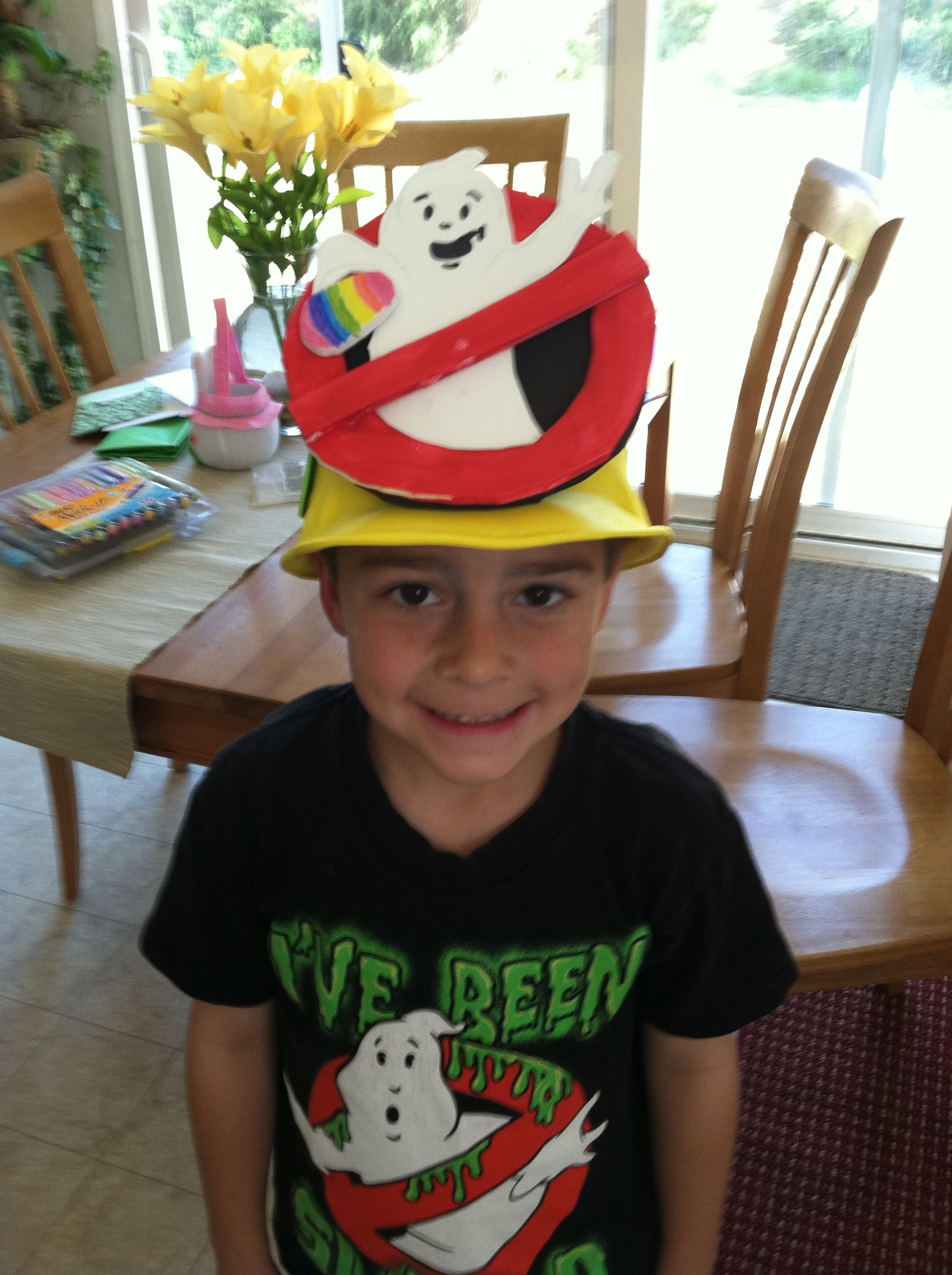 Ghostbuster Hat For Crazy Hat Day With Images Crazy Hats