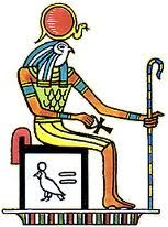 Ra or Re was the ancient Egyptian solar deity. By the Fifth Dynasty he had become a major god in ancient Egyptian religion, identified primarily with the midday sun.