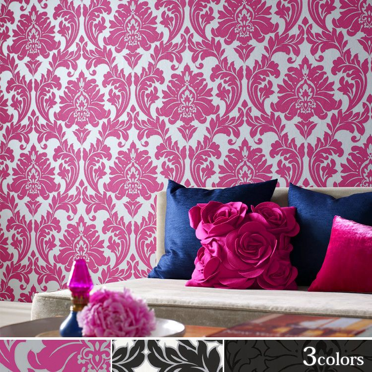 Majestic Hot Pink Wallpaper Accent Wall For Molly