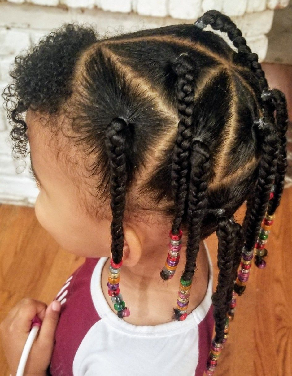 Mixed Kid Hair Style Braid Braid Hair Kid Mixed Style In 2020 Mixed Girl Hairstyles Mixed Kids Hairstyles Kids Curly Hairstyles
