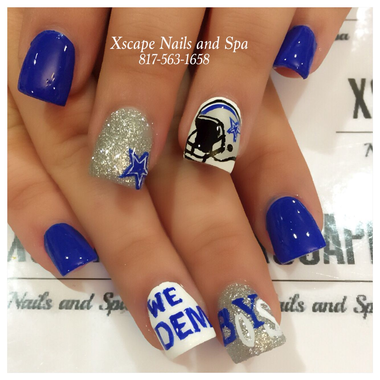Dallas Cowboys Nails | Hair/Makeup/Nails | Pinterest | Dallas ...