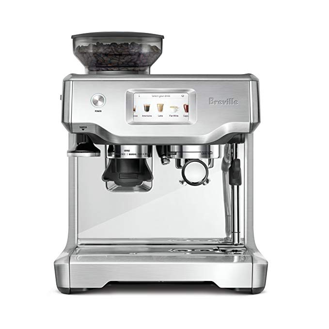 Amazon Com Breville Bes880bss Barista Touch Espresso Maker Stainless Steel Home Kitch Breville Espresso Machine Breville Espresso Automatic Coffee Machine