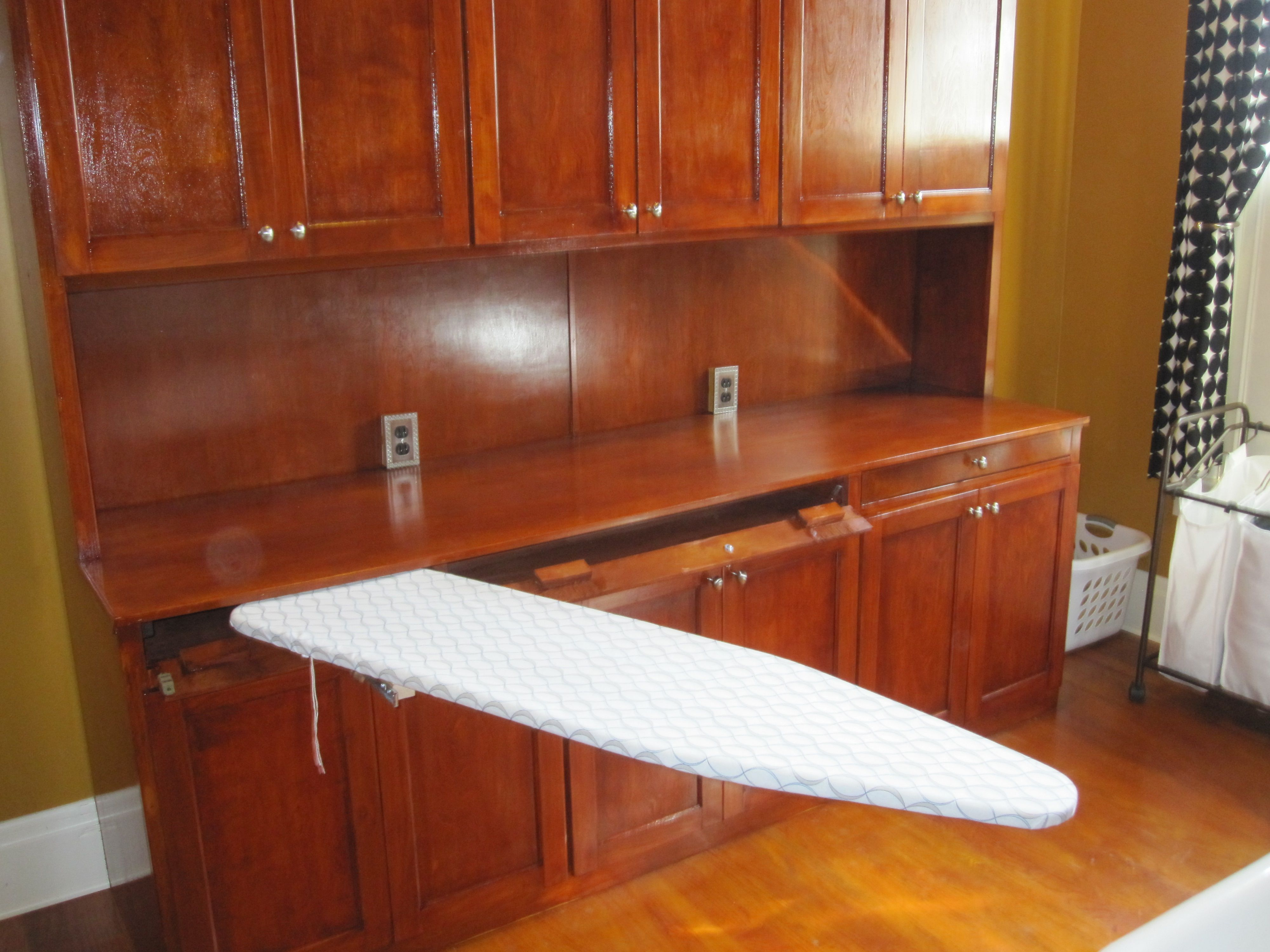Fold Up Ironing Boards Are Unsightly And Too Short This Full Size Board Is Sturdy Slides Into This Narr Small Laundry Rooms Laundry Room Laundry Room Design