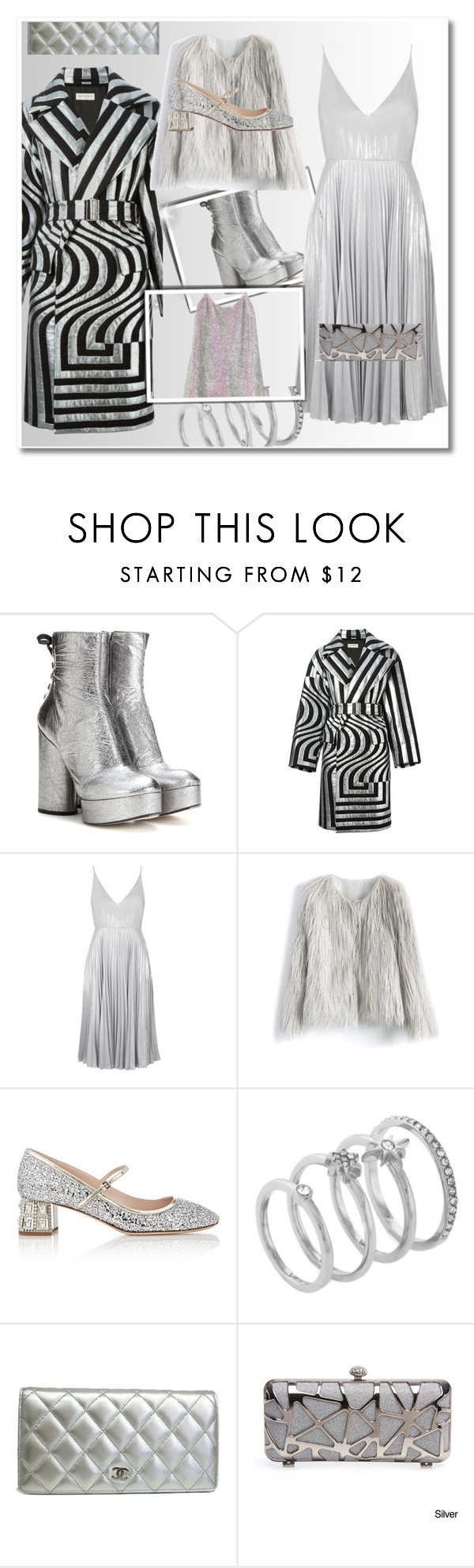 """Flint"" by prettymental ❤ liked on Polyvore featuring Marc Jacobs, Dries Van Noten, Topshop, Chicwish, Miu Miu, Vince Camuto, Chanel, Ashish, polyvoreeditorial and prettymental"