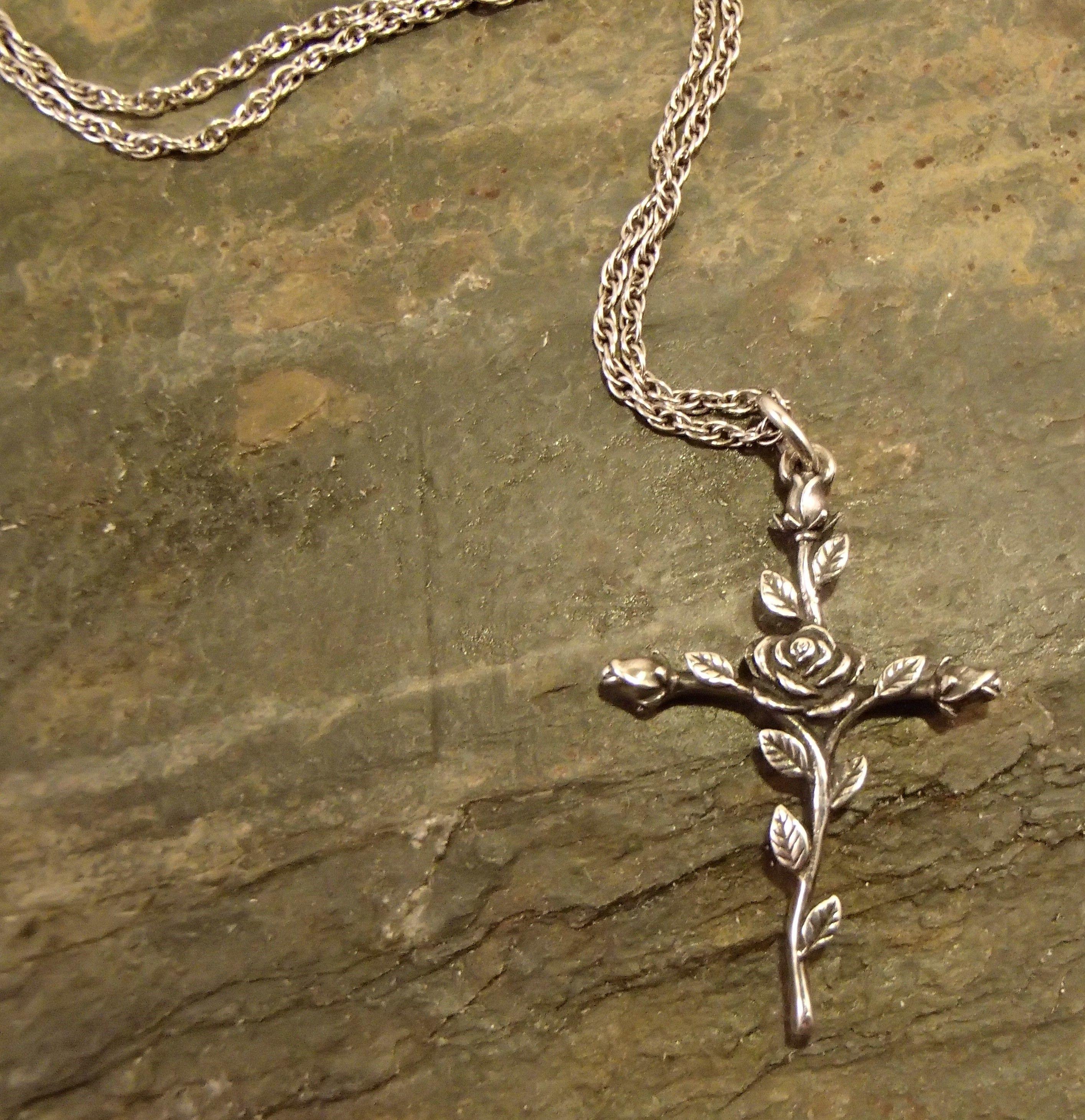 James Avery Rose Cross Necklace James Avery Necklace Cross Necklace Necklace