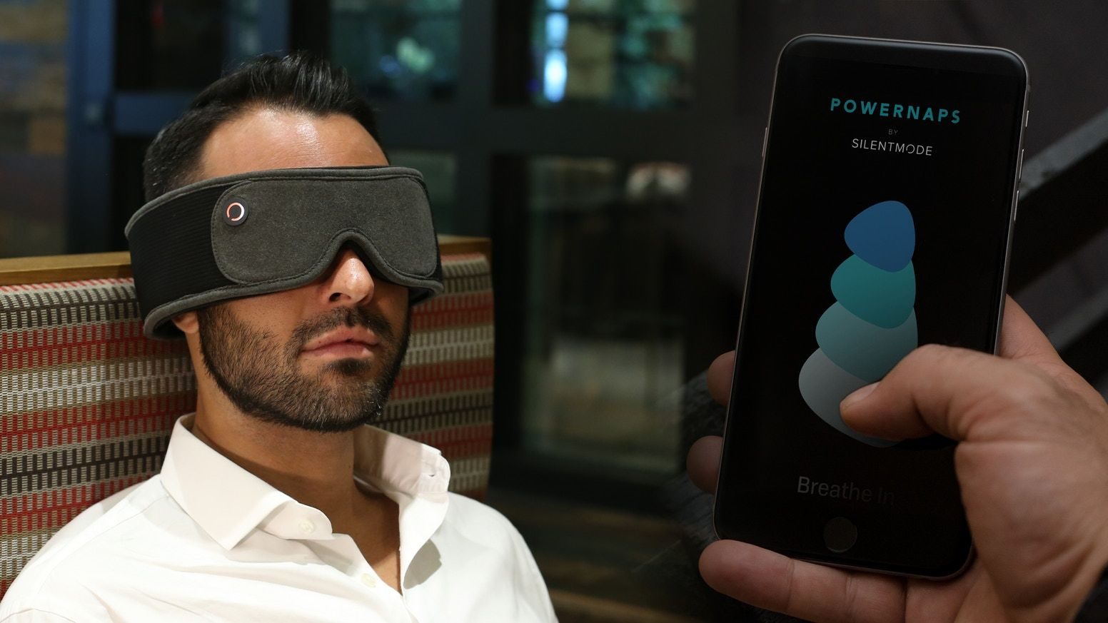 SILENTMODE Sleep mask with built in headphones Napping