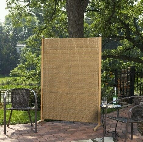 Charming TAN HOME OUTDOOR ROOM DIVIDER SCREEN FOR PRIVACY BACKYARD HOUSE POOL ART GYM