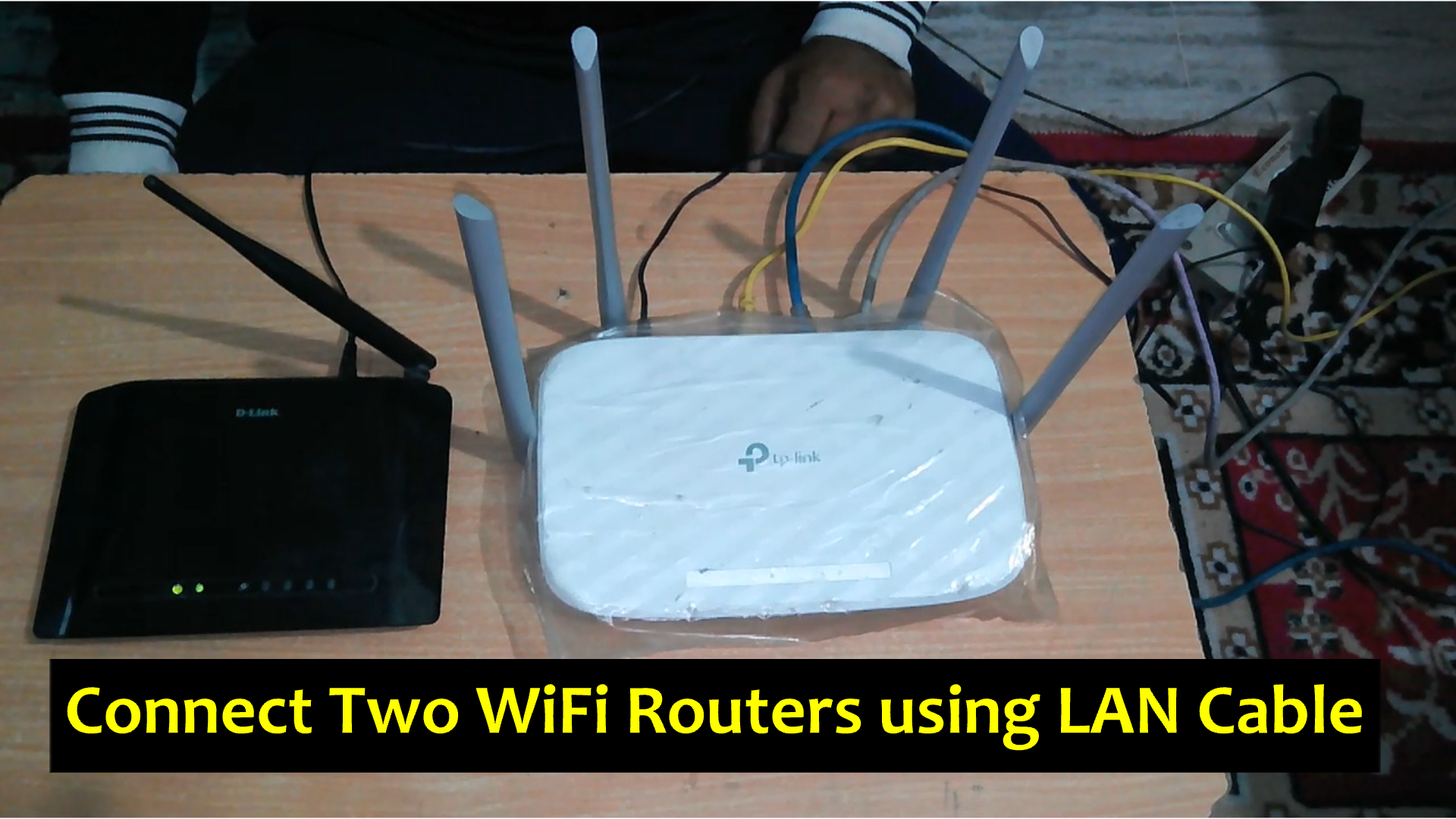 A second wifi router (dlink wifi router) can be connected to