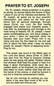 picture regarding Printable Prayer to St. Joseph named Prayer in the direction of St Joseph Prayers St joseph prayer, Novena