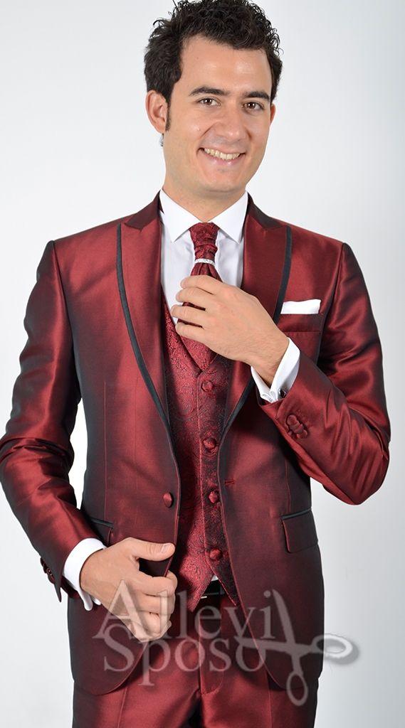 Vestito Matrimonio Uomo Damascato : Abito rosso torero sposo cerimonia bordo