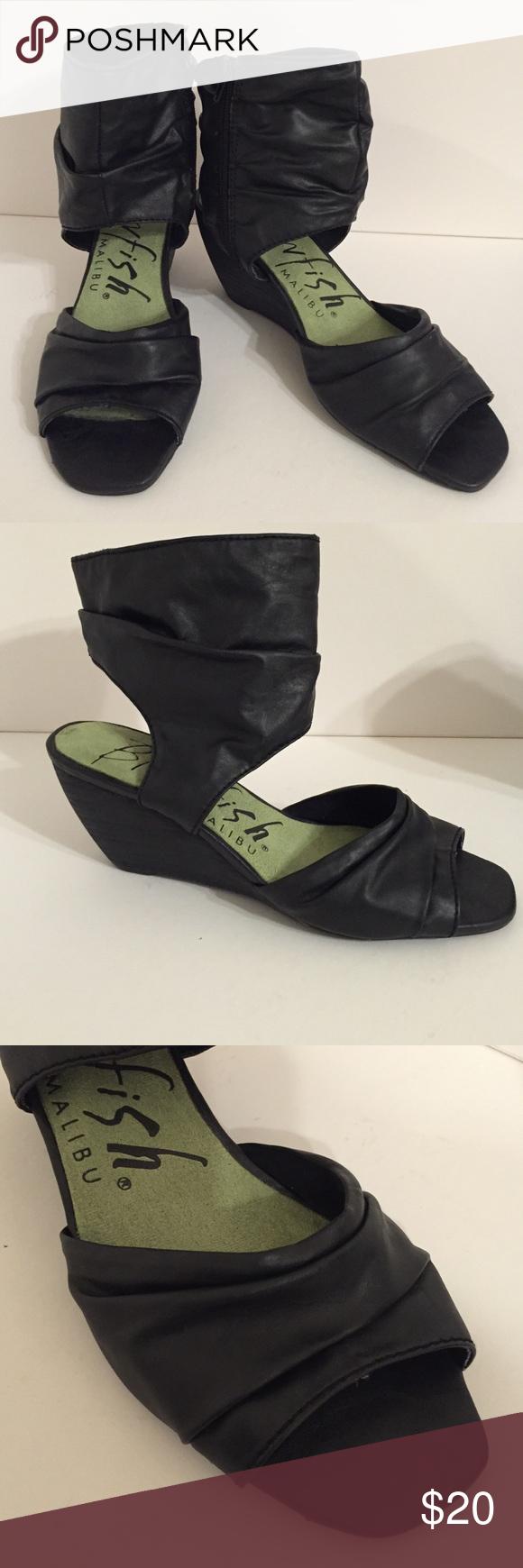Black enclosed sandals - Blowfish Malibu Black Covered Wedged Sandals