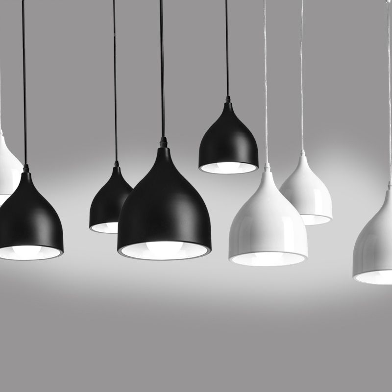 Modern restaurant lamp single bar small pendant light color black modern restaurant lamp single bar small pendant light color black white red green blue aloadofball Image collections