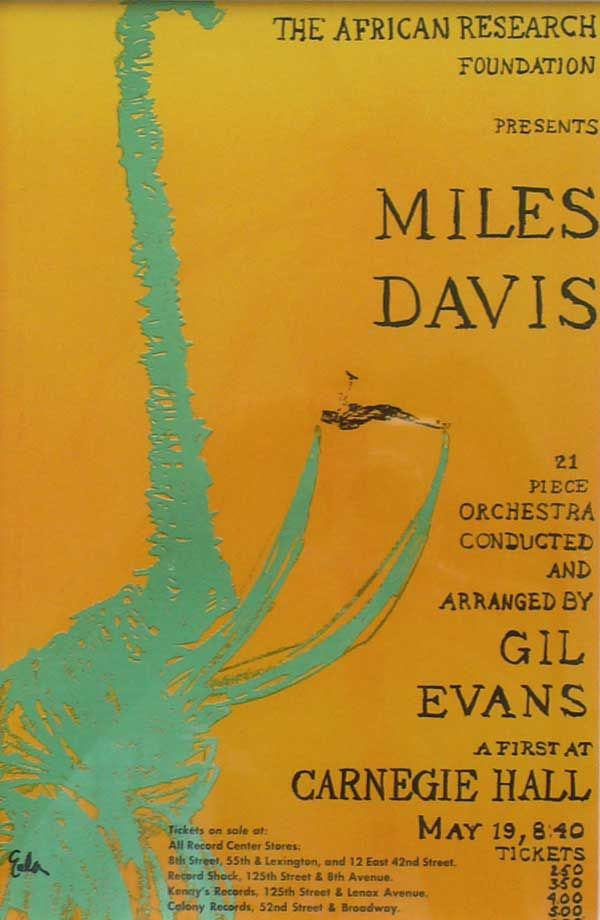 Miles Davis – 1961 Carnegie Hall Handbill | MUSICIANS AND