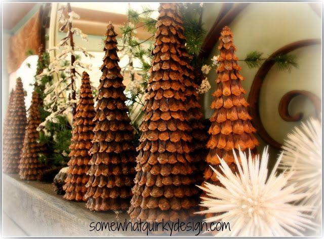 arbol-de-navidad-con-pinas-cortadas Manualidades Navideñas