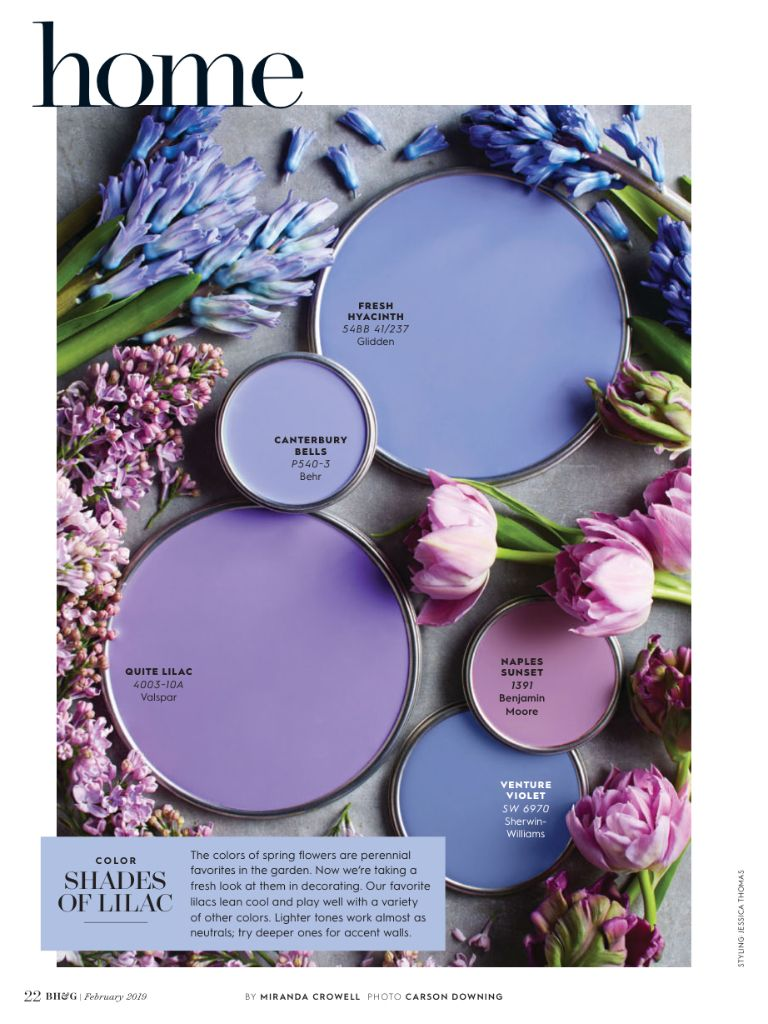 Shades Of Lilac Paint Colors For Home Lilac Painting Better Homes And Gardens