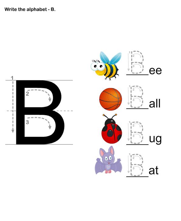 Letter Writing B - esl-efl Worksheets - preschool Worksheets ...