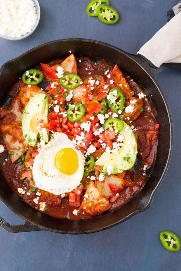 Chilaquiles rojos with ancho chili sauce recipe with