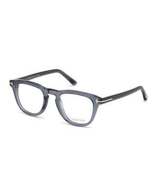 542b14f607 Tom Ford Blue Block Semitransparent Acetate Square Optical Frames ...