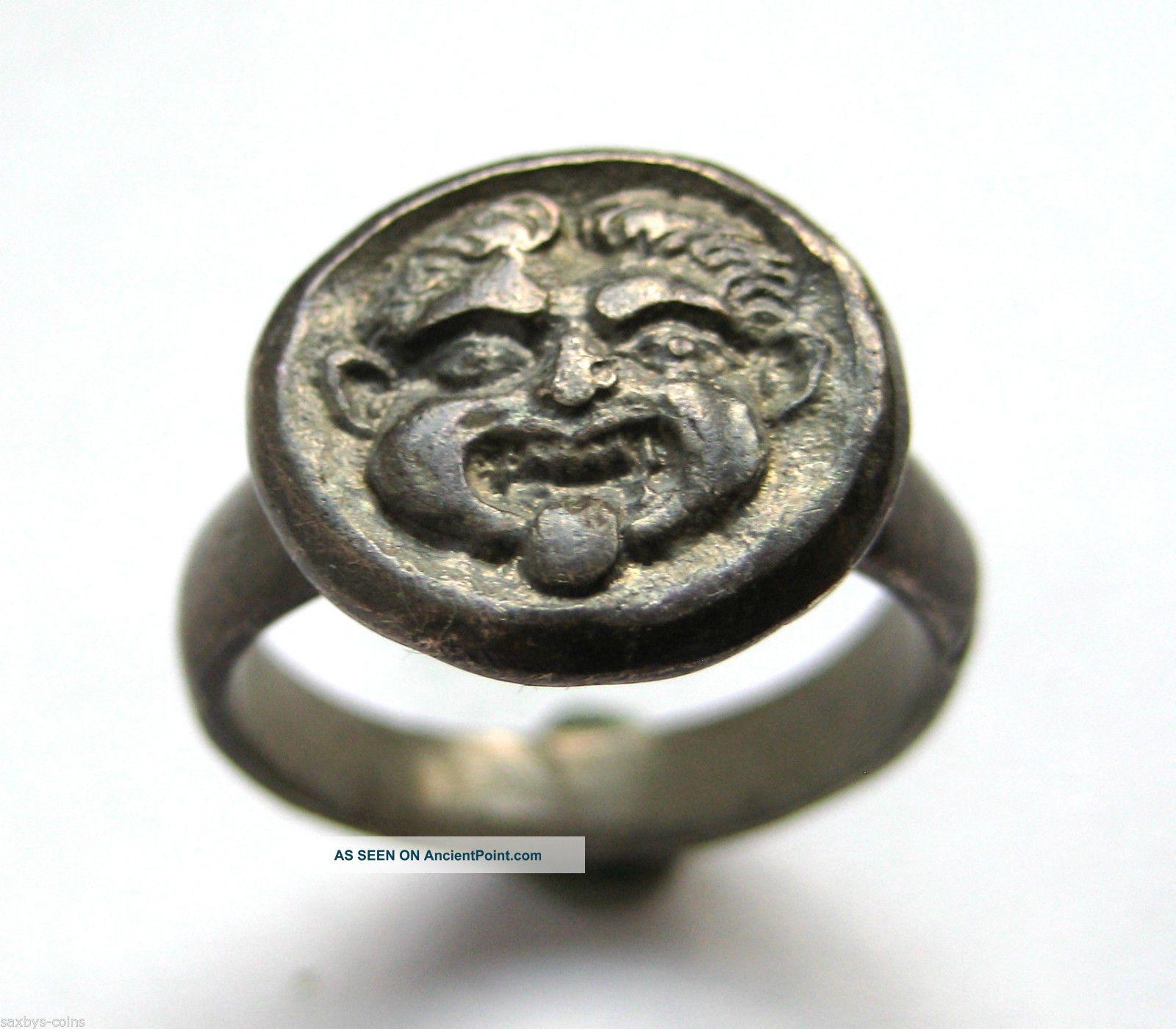 C. 50 A. D British Found Roman Period Ar Silver Decorative