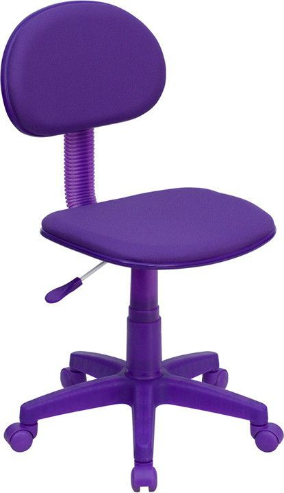 This colorful task chair will make a standout statement whether it is used in the kid's room, dorm room, or in the classroom. This chair was designed to support the lower-to-mid back region. Chair eas