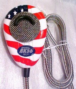 Redman CB Stop Custom Metal Cord USA FLAG Turner RK56 Mic