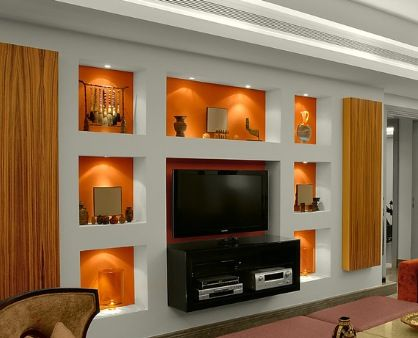 cosy drywall entertainment centers. Room Niche lighting with puck lights  For the Home Pinterest Puck