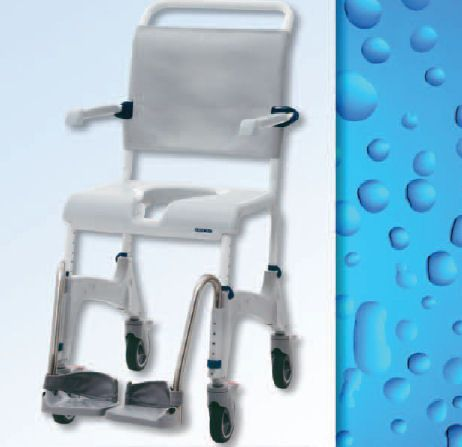 index casters chair aluminum wheels locking rehab with commode four shower rear