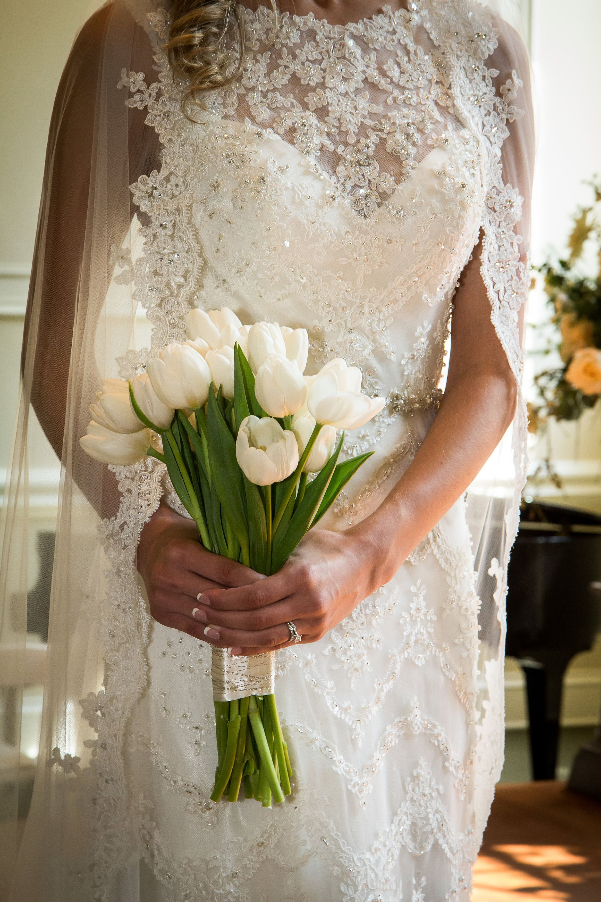Wedding Dress Cassidy By Maggie Sottero White Tulip Bouquet