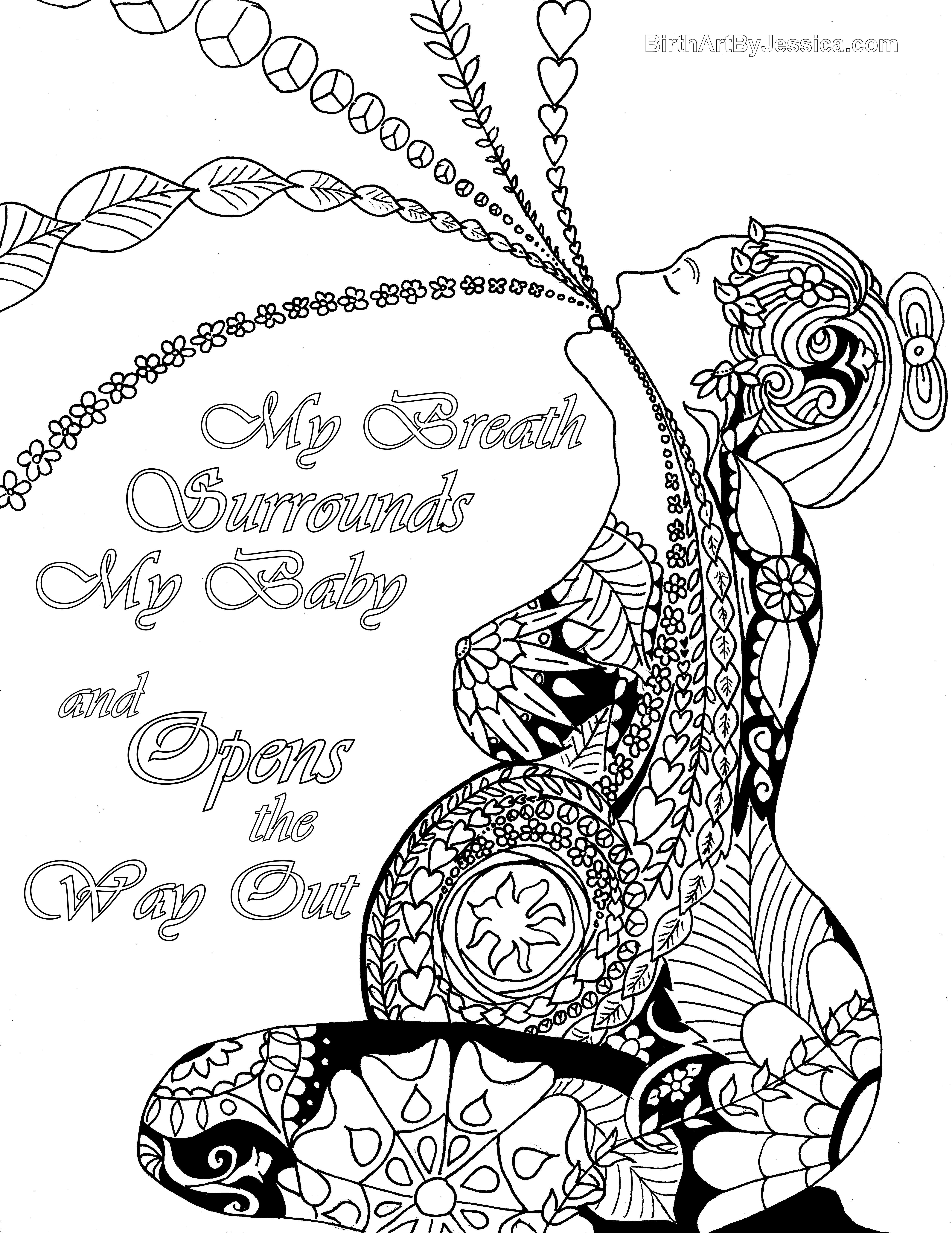 Birth Affirmation Coloring Page -Free Printable!- | Birth Pregnancy ...