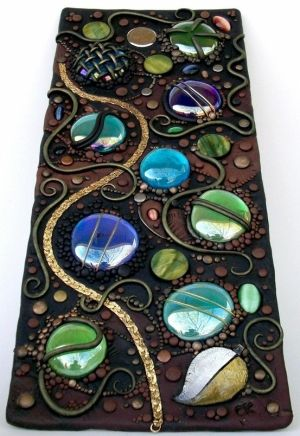 glass and bead sculpy board