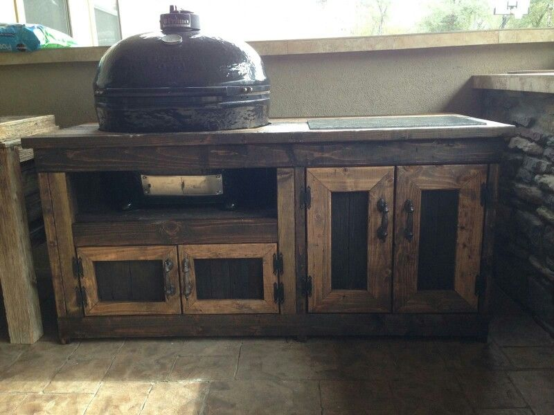 Charming Custom Grill Table For Primo XL