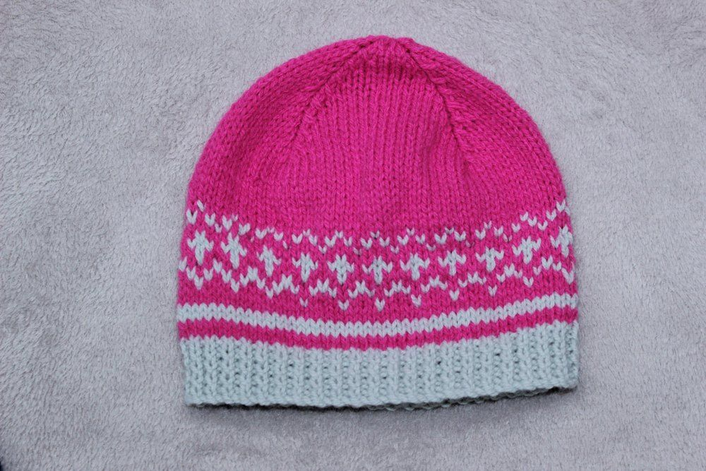 Knitting Pattern Ladies Beanie Hat Uk Usa Terms 436 Knitted Hat