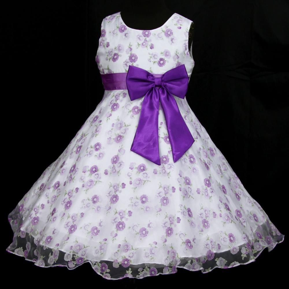 Luz, Deep Purple blanco puw975 Birthday Party boda flor princesa de ...