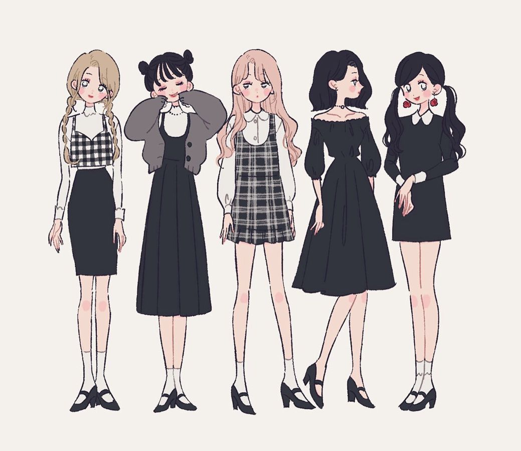 Illustration イラスト 女の子 ファッション тян In 2019