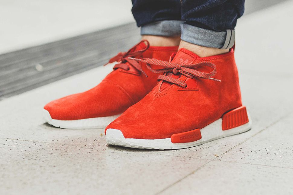 adidas nmd r1 original boost runner lush red