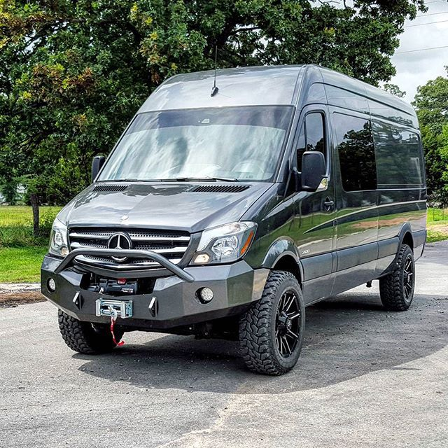 Mercedes Van Camper >> We Just Finished This Custom Bumper For A Local Mercedes