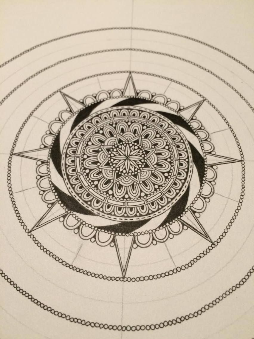 how to make a mandala pt 3 zeichnungen usw zeichnungen. Black Bedroom Furniture Sets. Home Design Ideas