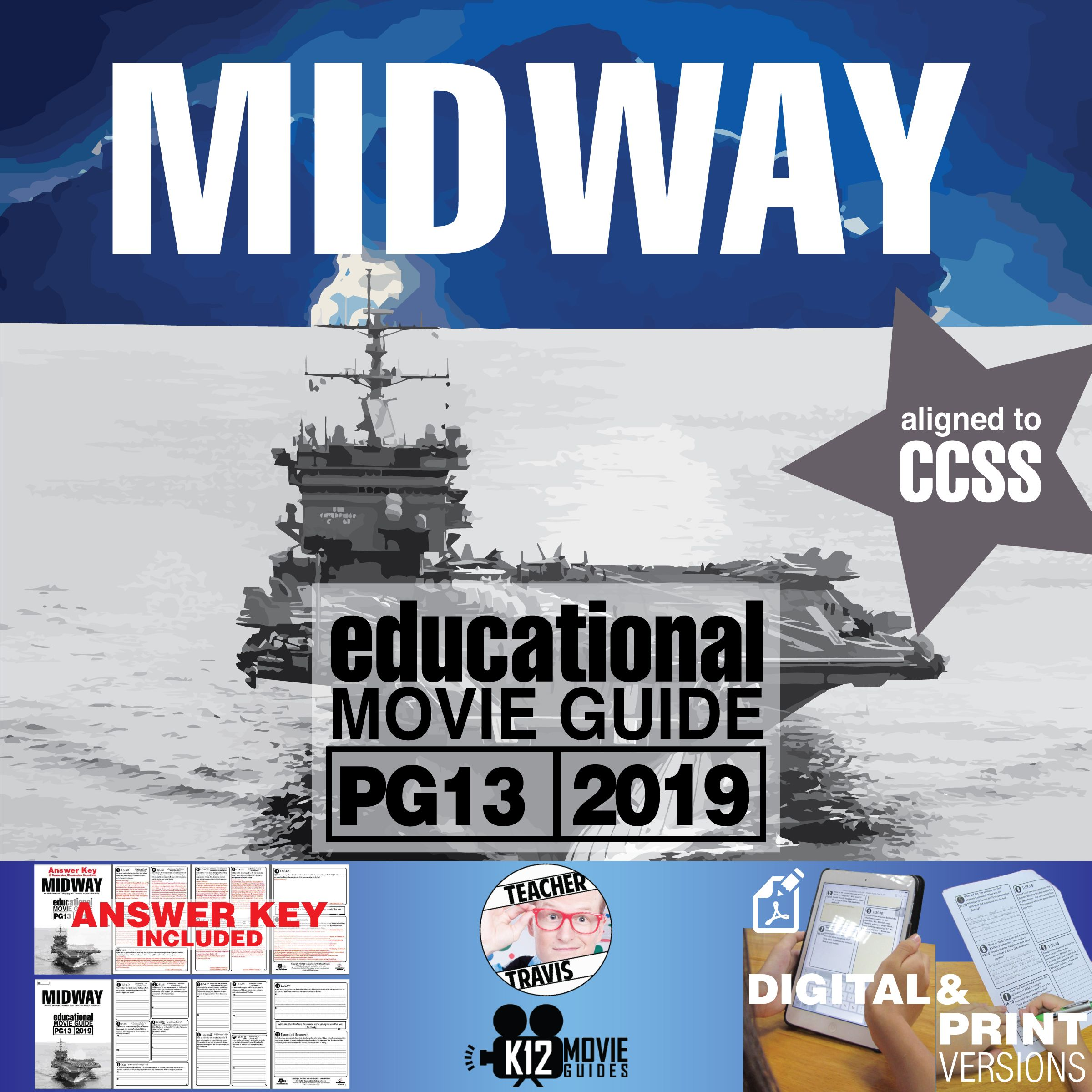 Midway Movie Guide Questions Worksheet (PG13 2019