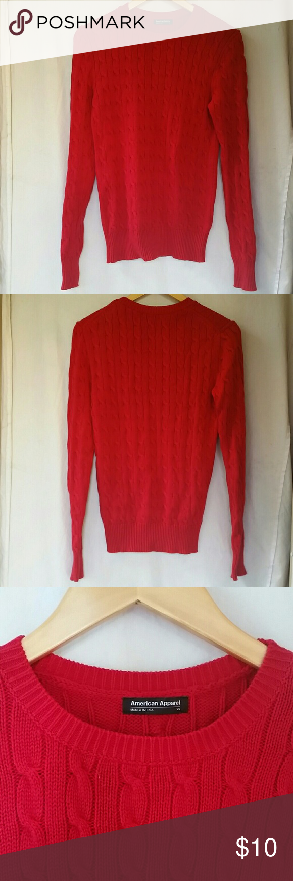 American Apparel Red Sweater | Red sweaters, American apparel and ...