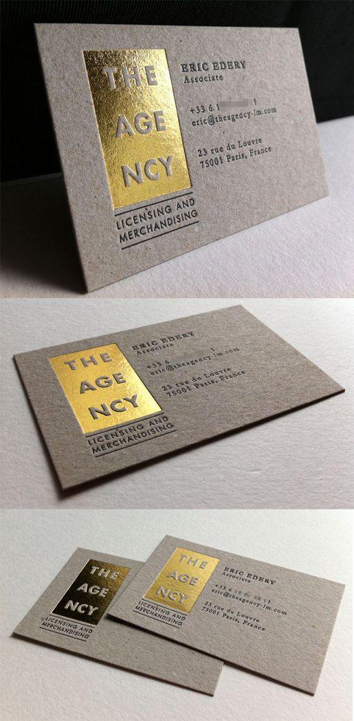 Letterpress And Gold Foil Business Card Design For A Marketing ...