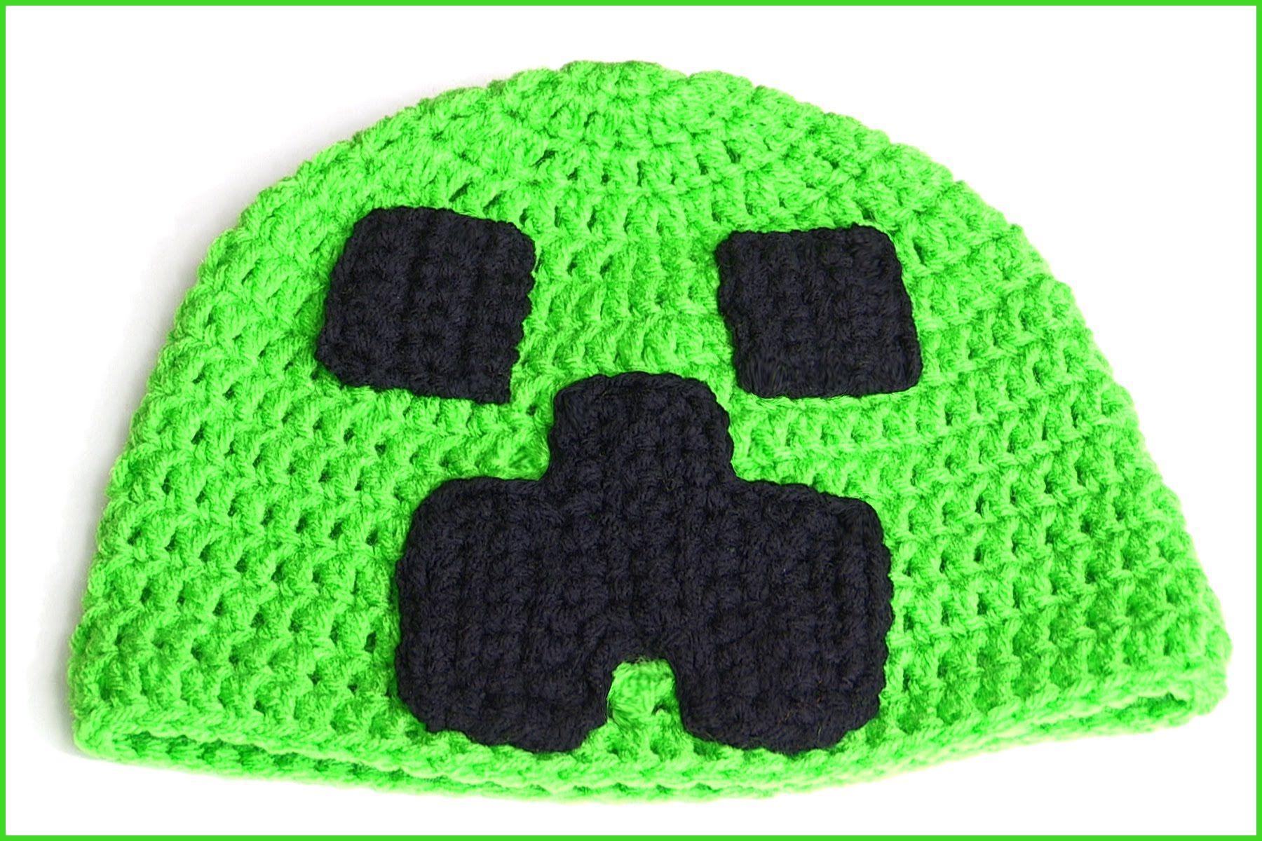 How to Crochet a MINECRAFT Gamer Hat  1b5dd5ef1e2