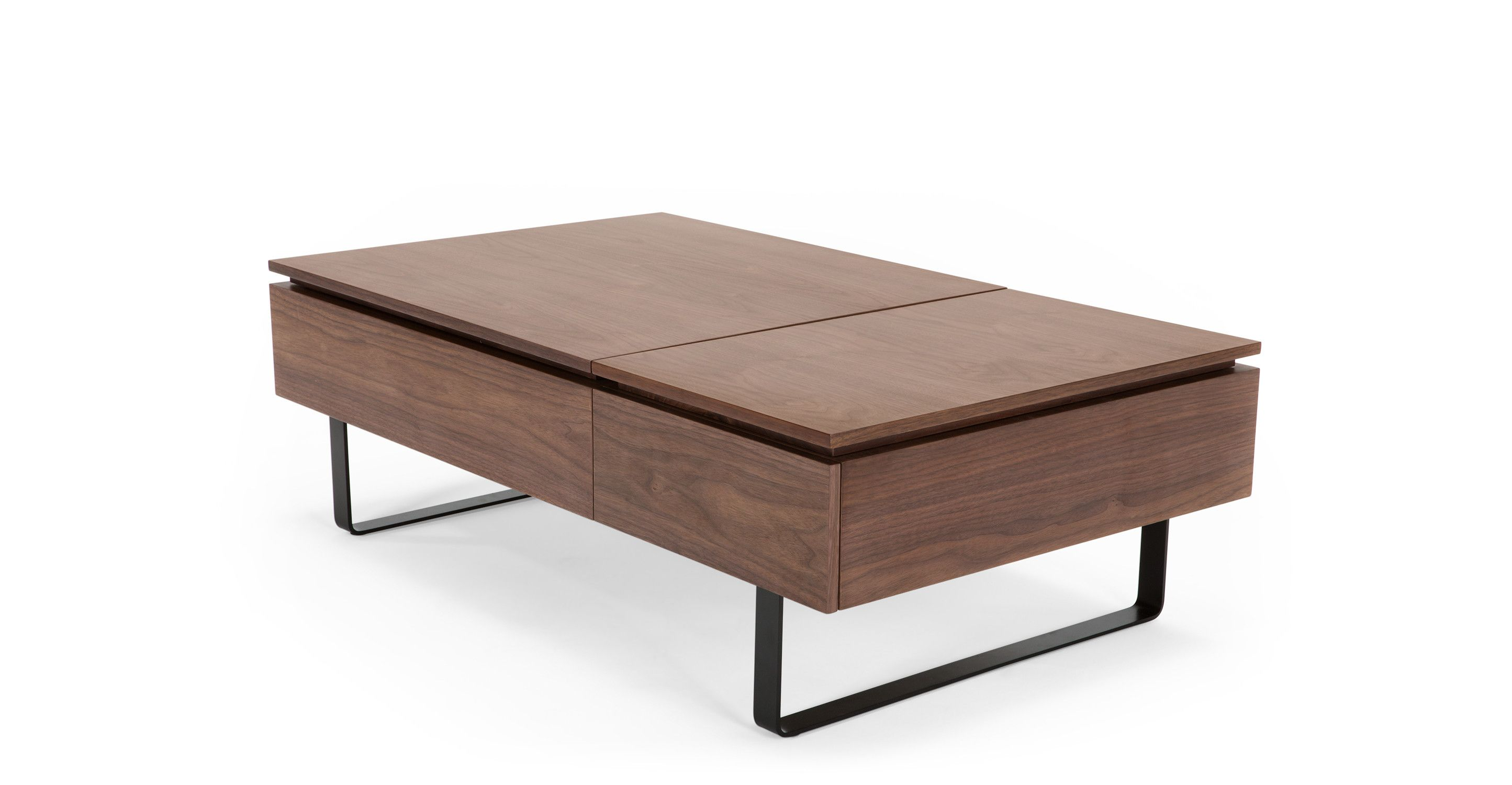 Flippa Functional Coffee Table with Storage Walnut from Made