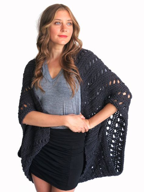 Pattern For Loose Knit Poncho Beach Cover Up Por Twoofwandsshop