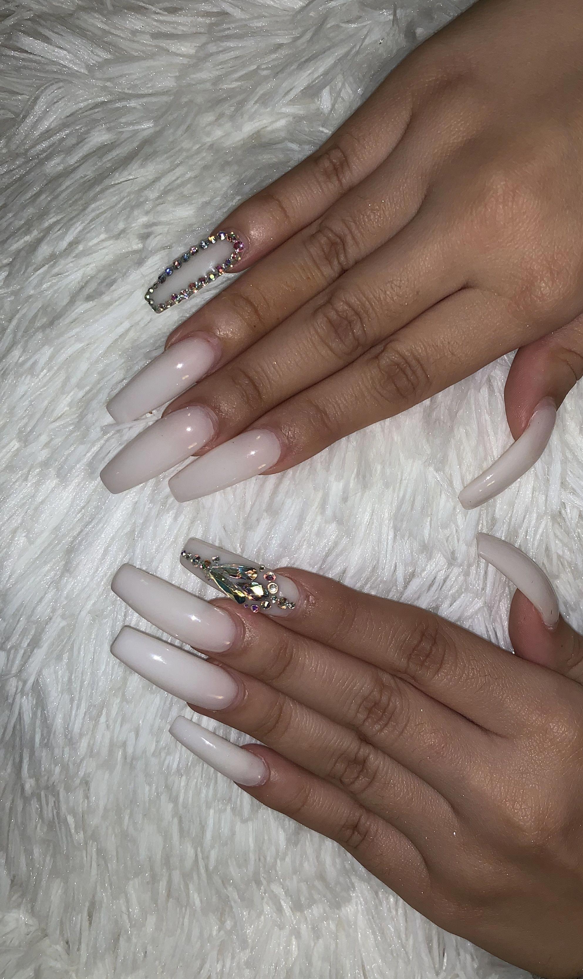 Short Acrylic Nail Art Tips Howlongdoacrylicnailslast Long Acrylic Nails Coffin White Acrylic Nails Long Acrylic Nails
