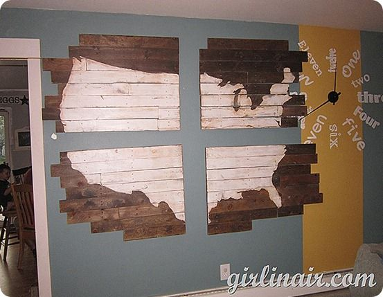 Wood Panel Wall Map | Crafts | Pinterest | DIY Projects, Pottery ...