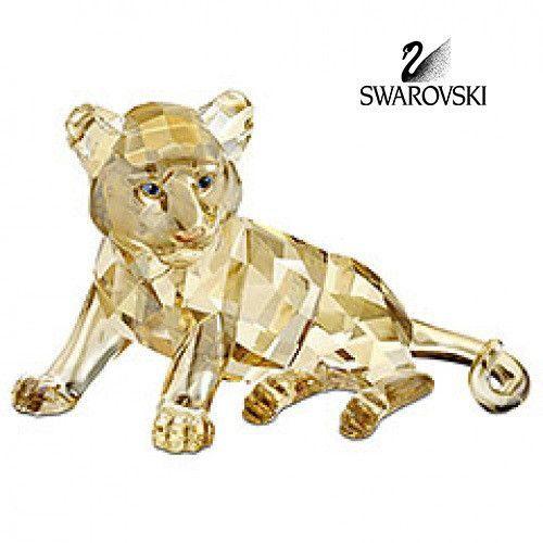 599b01c9d Swarovski Color Crystal Animal Figurine TUGER CUB SITTING #1016678 ...