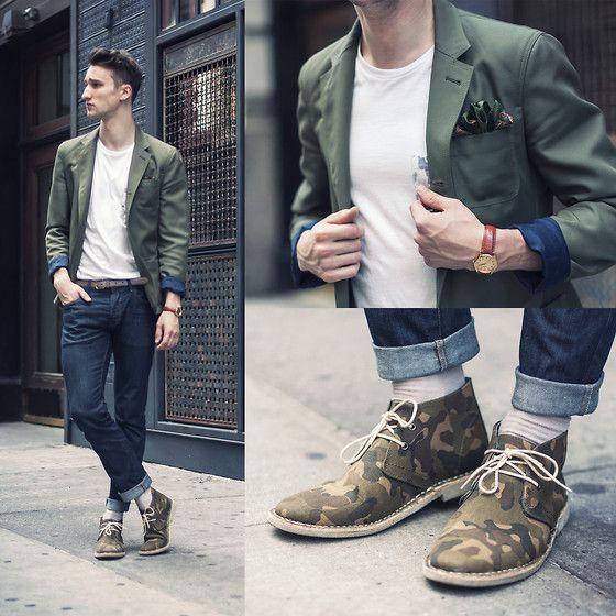 Fashion.   Blazer outfits men